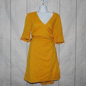 Old Navy Yellow Wrap Dress